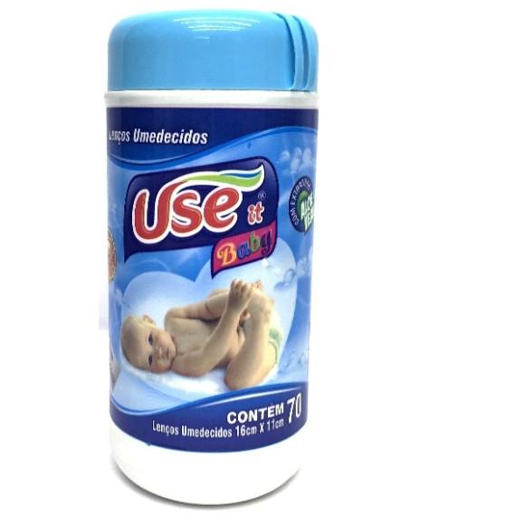 LENCO UMEDECIDO C/70 ( AZUL )332178 USE IT